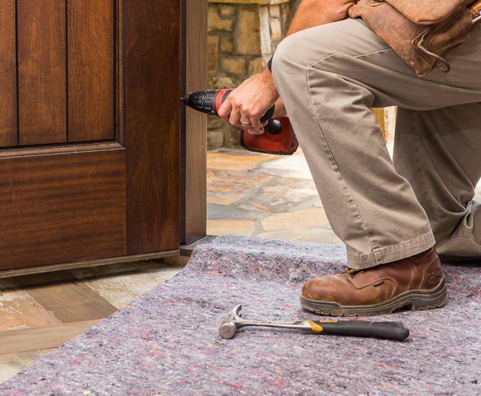Protect tile, stone and hardwood floors with Clean&Safe surface protection.