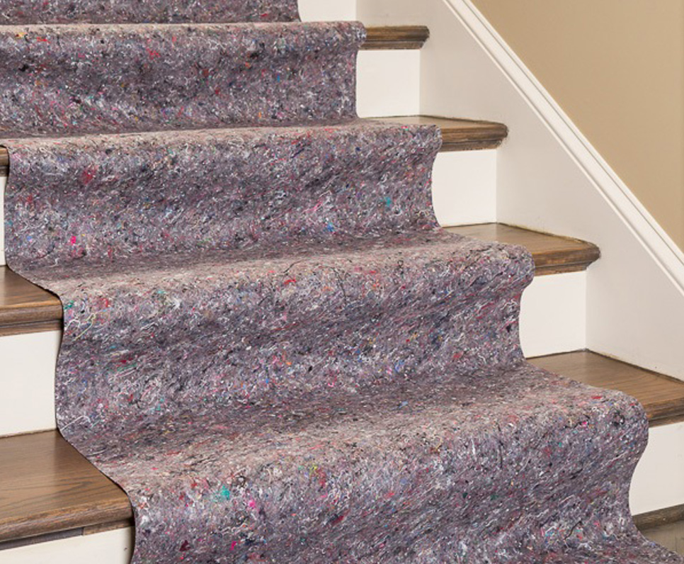 Provide skid-resistant protection for stairs during construction with Clean&Safe floor protection.