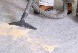 Clean&SafePro provides leak-proof protection that's easy to broom clean or vacuum.
