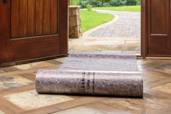 Clean&Safe reusable drop cloths protect any surface including stone, hardwood and more.