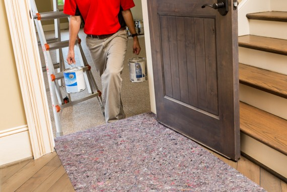 CleanandSafe drop cloths provide excellent floor and surface protection during remodeling or construction.