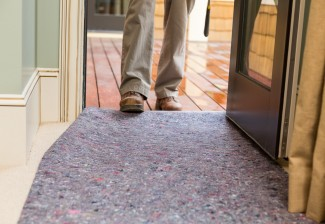 Clean&Safe reusable drop cloths protect carpeting from muddy feet, spills during construction work and more.