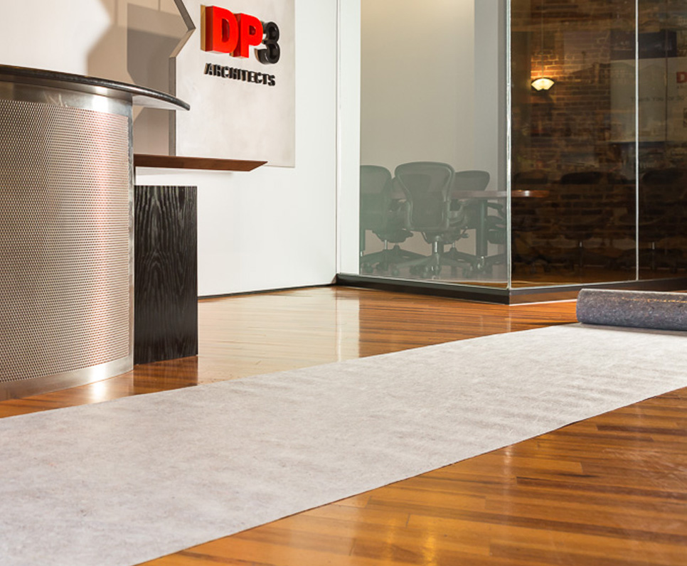 Protect commercial and residential floors with Clean&SafePro reusable surface protection.