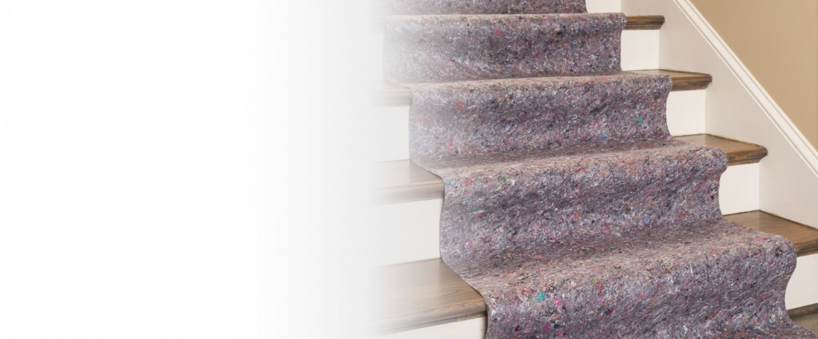 Clean&Safe skid-resistant drop cloths provide excellent stair protection during renovation or construction.