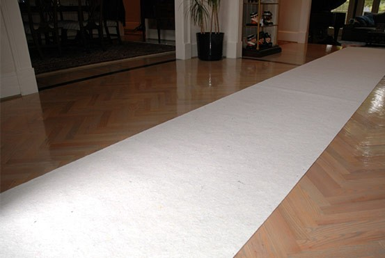 SurfacePro breathable surface protection for newly finished floors.